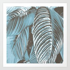 Sea-blue Leaves Art Print