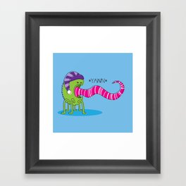 Even Monsters Get Sleepy Framed Art Print