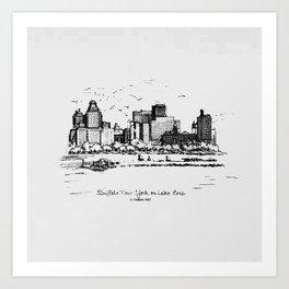 Buffalo By AM&A's 1987 Art Print