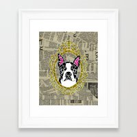 terrier Framed Art Prints featuring Terrier by Shelby Fry Designs