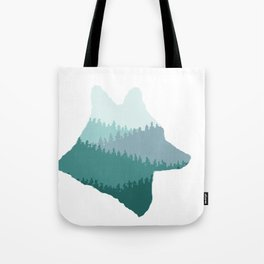 Wolf Mountains (Blue) Tote Bag