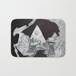 Fawn and Fox in  a Moonlit Daze Bath Mat