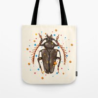 insect Tote Bags featuring INSECT VIII by dogooder