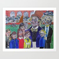 willy wonka Art Prints featuring Willy Wonka by Robert E. Richards