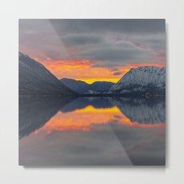 lake_sunset Metal Print