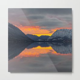 lake_sunset Metal Print