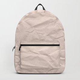 crumpled paper. Kraft paper Backpack