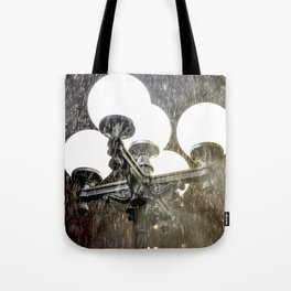 Union Square NYC rainy night. Tote Bag