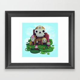 Skull Mountain Framed Art Print