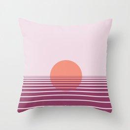 Pink sunset print - Girls Gang Prints Throw Pillow