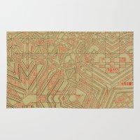 typo Area & Throw Rugs featuring Typo by Steve W Schwartz Art