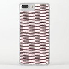 Violet Grape fruit pattern Clear iPhone Case