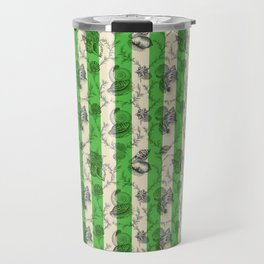 Stripes & Shells - green Travel Mug
