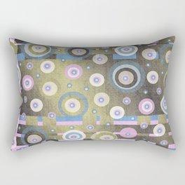 grunge,Gold, Rose, Blue, retro pattern, balls, stripes, shiny Rectangular Pillow