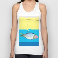 fishing Tank Tops featuring Fishing by ilkai
