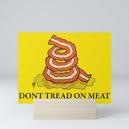Don't Tread On MEAT Gadsen Flag Mini Art Print
