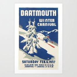 Dartmouth Winter Carnival 1937 Art Print