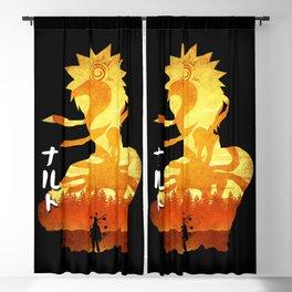 Minimalist Silhouette Hero Blackout Curtain