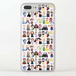 Cute kokeshis fairy tales Clear iPhone Case