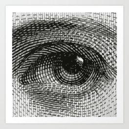 Eye engraving Art Print