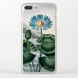 The Blue Egyptian Water Lily - The Temple of Flora Clear iPhone Case