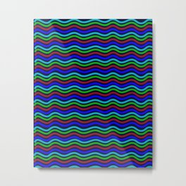 Abstract Aquatic Artwork Ocean Metal Print