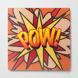 POW Comic Book Pop Art Cool Superhero Graphic Metal Print