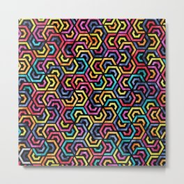 Seamless Colorful Geometric Pattern XXIV Metal Print