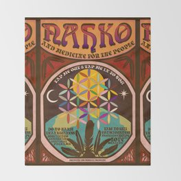 Nahko & Medicine for the People | Fan Made Poster Throw Blanket