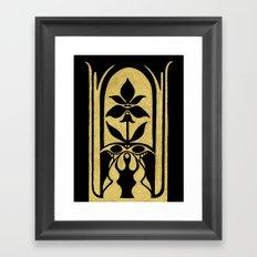 Golden Symmetry 2 Framed Art Print