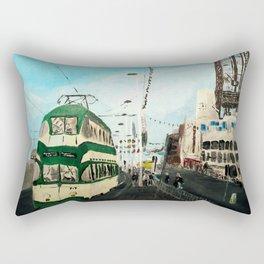 Blackpool Lancashire England Acrylic Fine Art Rectangular Pillow