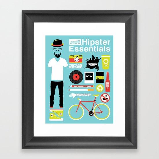 Hipster Essentials Framed Art Print