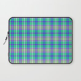Grape Pool Water Plaid Laptop Sleeve