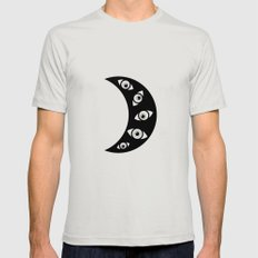 With eyes SMALL Silver Mens Fitted Tee