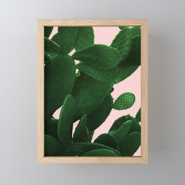 Cactus On Pink Framed Mini Art Print