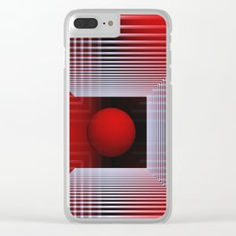 3D for duffle bags and more -1- Clear iPhone Case