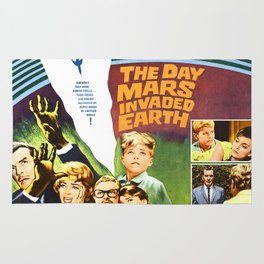 The Day Mars invaded Earth, vintage sci-fi movie poster Rug