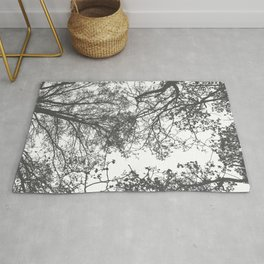 Grey Trees Abstract Rug