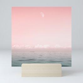 sundown at the sea. sunset over the sea Mini Art Print