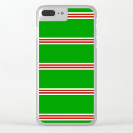 Christmas Stripes #2 Clear iPhone Case