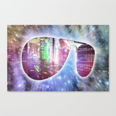 The city, the stars, and the avie shades. Canvas Print