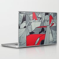 racing Laptop & iPad Skins featuring Porsche Racing by Ale Giorgini