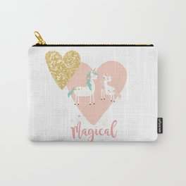 Magical Unicorn Valentine Couple Carry-All Pouch