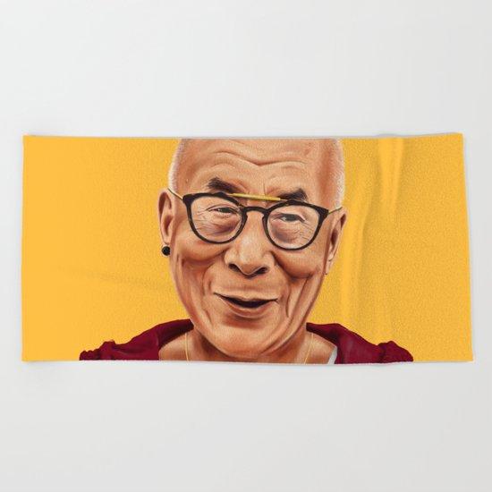 Hipstory -  Dalai Lama Beach Towel