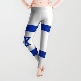 Flag of the State of Israel - High Quality Image Leggings