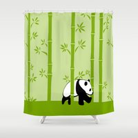 bamboo Shower Curtains featuring Bamboo by Frosty Shades