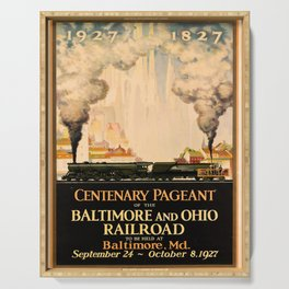 retro iconic Centenary Pageant poster Serving Tray