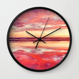 Purple silk Wall Clock