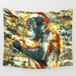 AnimalArt_OrangUtan_20170906_by_JAMColors Wall Tapestry