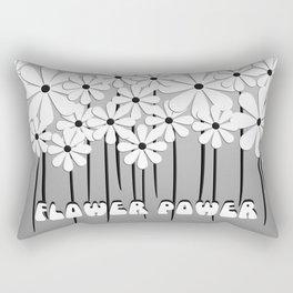 Flower Power in Black and White Rectangular Pillow